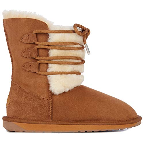 Womens Chestnut Australia Real Sorby Boots EMU Sheepskin Winter 15wa8qx