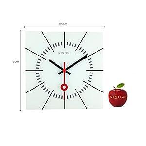 Nextime Stazione Reloj de Pared, Blanco, 35 x 3.3 x 35 cm 2