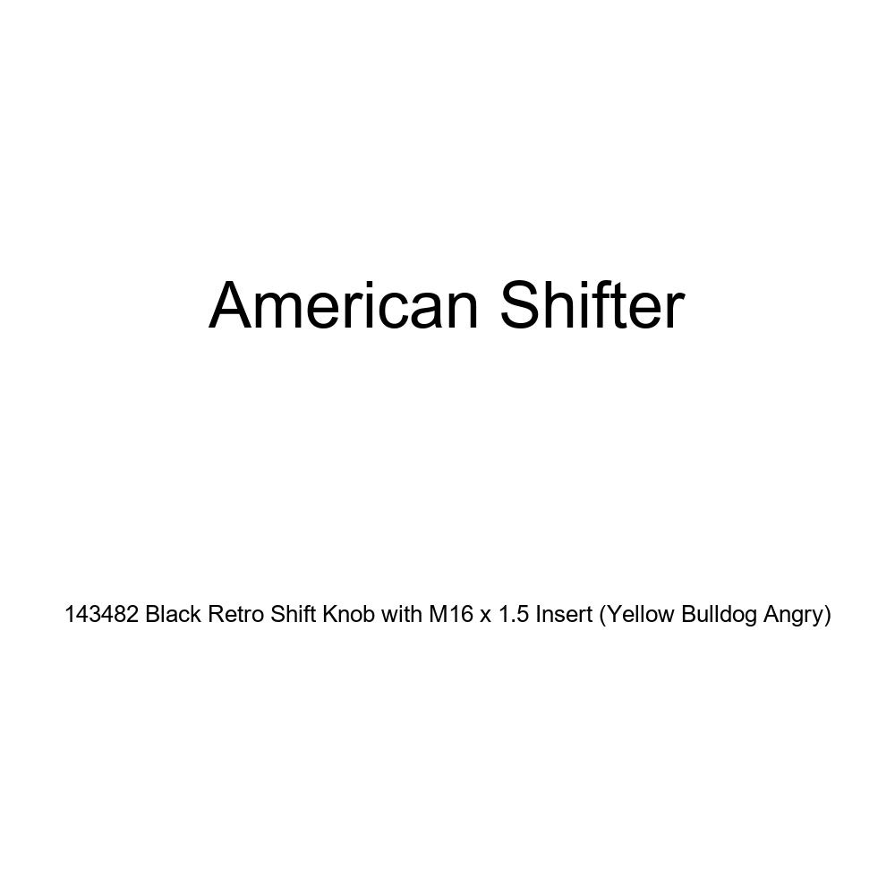Yellow Bulldog Angry American Shifter 143482 Black Retro Shift Knob with M16 x 1.5 Insert
