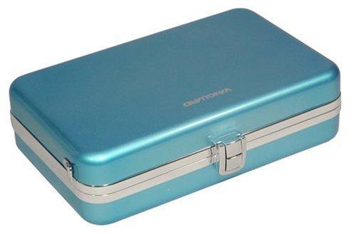 Case Ipod Aluminum Hard Nano - Vanguard Swing 19/Blue Aluminum Hard Case for iPod and Accessories with Divider Flap (blue color)