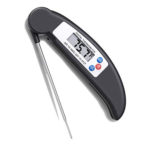 EYEFANCEE Digital Meat Thermometer with Collapsible Internal Probe