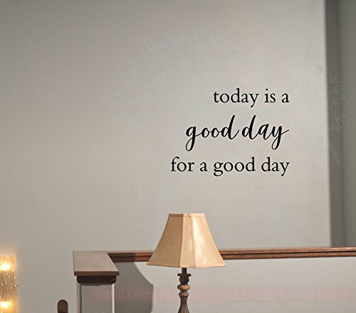 Today is A Good Day Vinyl Wall Decals Inspirational Sayings for Kitchen Wall Art, 23x17-Inch, Black -