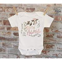 Udder-ly Adorable Cow Onesie®, Woodland Animal Onesie, Cute Cow, Cute Baby Bodysuit, Cute Onesie, Boho Baby Onesie, Funny Onesie