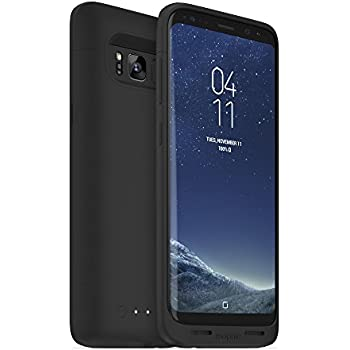 mophie Juice Pack Battery Case – Samsung Galaxy S8 – 2,950 mAh Built-in Battery – Universal Wireless Charging – Black