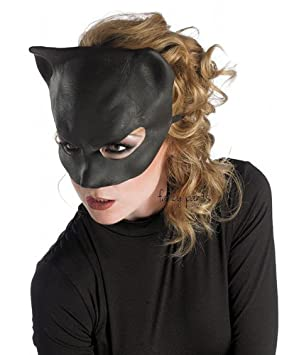 cat woman mask adult catwoman superhero mask ears goggles anne hathaway halloween fancy dress costume