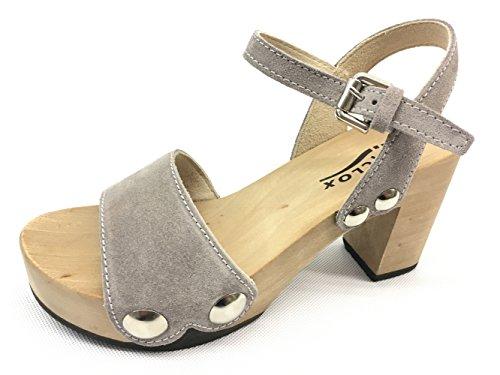 Softclox S3337 Grey - Sandalias de vestir para mujer gris