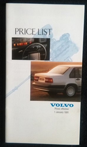 1991 VOLVO RANGE FULL-LINE PRICE LIST: 340,