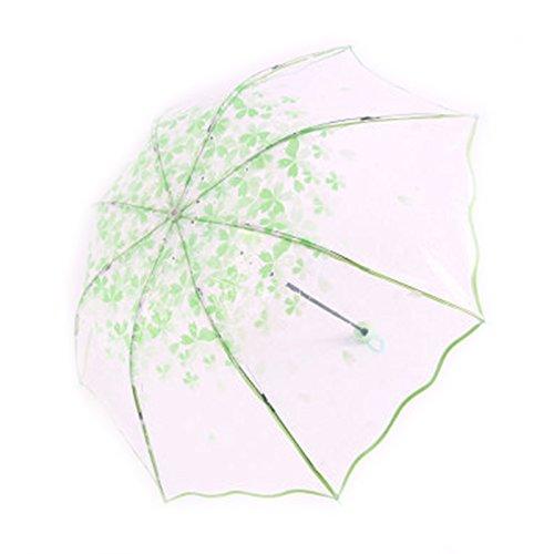 Doitsa paraguas transparente paraguas de flor de cerezo paraguas plegable gastos y Simple Romance de moda paraguas boda pluvieux (verde): Amazon.es: Hogar