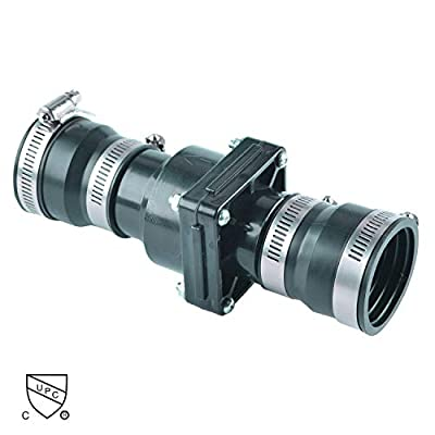 Hydro Master 0521105 Plastic Sump Pump Check Valve with Stainless Steel Clamps for 1-1/2 inch or 1-1/4 inch from Boro