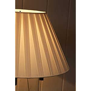 "Cream Box Pleat Lampshade - 18""Buy one, get one free!"