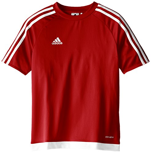 adidas Estro 15 Jersey (Little Big Kids), Power Red/White, Large