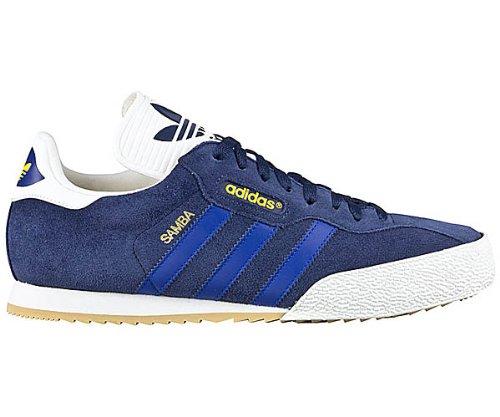 newest 1e285 b4fdb adidas ADIDAS SAMBA SUPER - Caña baja de cuero hombre, color azul, talla  42  Amazon.es  Zapatos y complementos