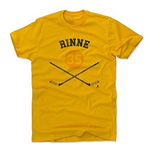 500 LEVEL Pekka Rinne Cotton Shirt (Medium, Gold) - Nashville Predators Men's Apparel - Pekka Rinne Sticks B ()