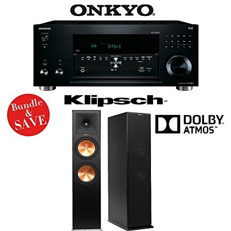 Onkyo TX-RZ810 7.2-Channel Network A/V Receiver + (1) Pair of Klipsch RP-280FA Tower Speakers w/Dolby Atmos Height Channel - Bundle