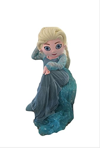 Elsa Queen Frozen Mascot Costume Adult Size For Birthday Girl Party Event Halloween