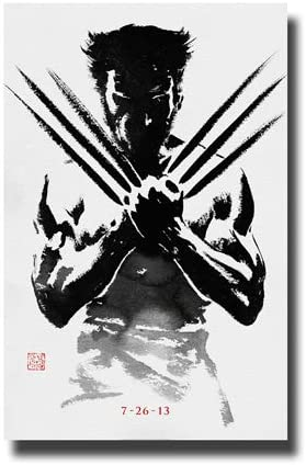 Wolverine Poster Movie Promo 11 x 17 inches Black and White 2013