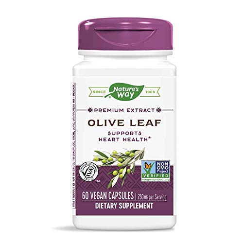 Nature's Way Olive Leaf, Premium Extract Supplement, 250 mg per serving, 60 Capsules