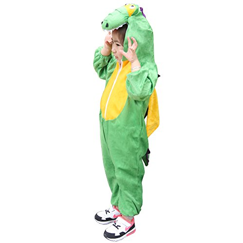 Children Party Costume Cartoon t-rex Costume Funny Clothes Performance Kids Dinosaur Cosplay Costume (M(Height 35.4''-41.3''/90cm-105cm), Dinosaur) by YOWESHOP (Image #2)