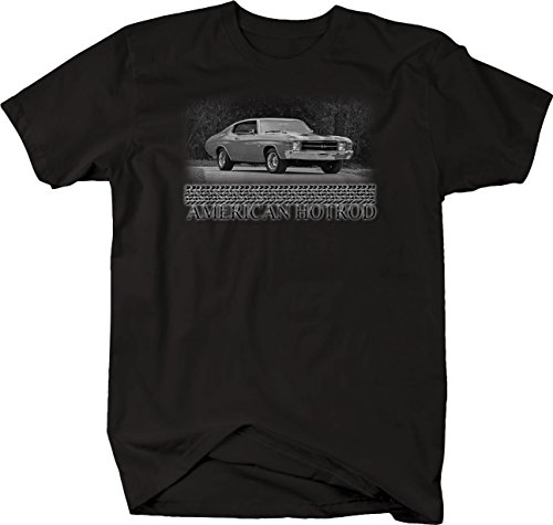 Bold Imprints Retro - American Hotrod Chevy Chevelle SS Red V8 70's Muscle Tshirt - 6XL