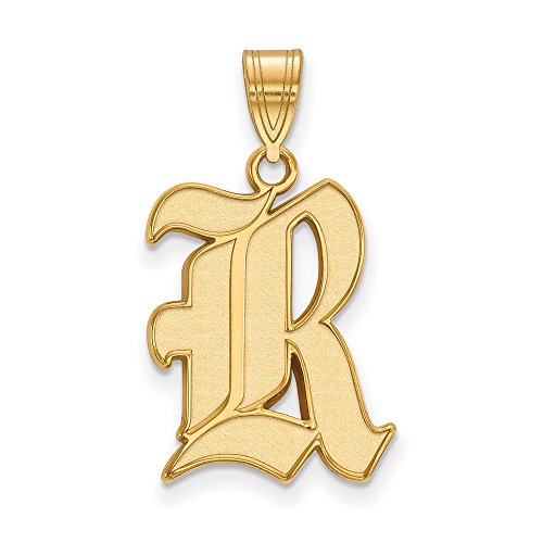 Rice Large (3/4 Inch) Pendant (14k Yellow Gold) by LogoArt
