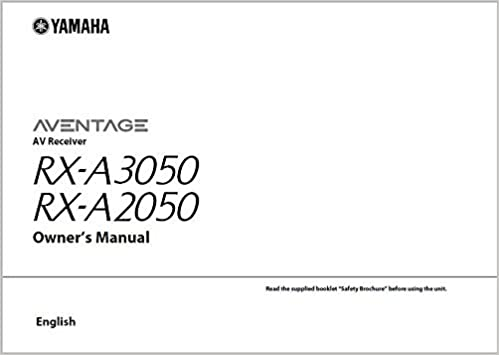 Yamaha Rx A3050 Rx A2050 Reciever Owners Manual Plastic