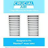 2 Hunter 30710, 30711 & 30730 Air Purifier Filters, Part # 30963, Designed & Engineered by Crucial Air