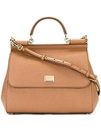 Women's BB6235A10018M417 Brown Leather Handbag