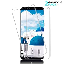 Galaxy S8 Screen Protector, AAJO[Full Coverage][HD Clear][Case Friendly][Anti-Fingerprint] Premium Tempered Glass Screen Protector for Samsung Galaxy S8
