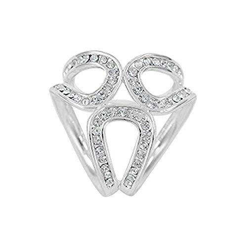 [TRENTON Rhinestone Garland Hoop Twine Brooch Silk Scarf Clip Buckle Holder Jewelry Gift (Silver )] (Buckle Silk)