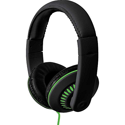 - Coby CVH-811-GRN Melody Stereo Headphones with Built-In Mic, Green