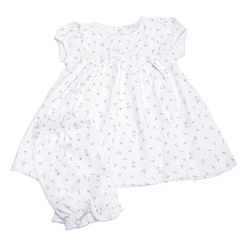 UPC 693527451716, Kissy Kissy Baby Girls Garden Roses Print Dress With Diaper Cover- 9 Months