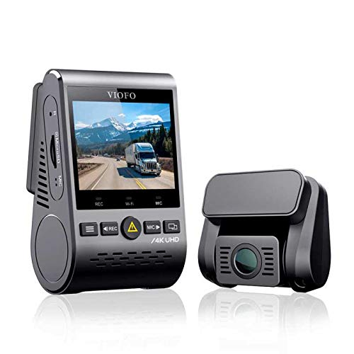VIOFO A129 PRO Dual Channel Ultra 4K Front and 1080p Rear Car WiFi Dash Camera with GPS