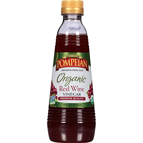 Pompeian Organic Red Wine Vinegar, 16 Ounce (Pack of 6)