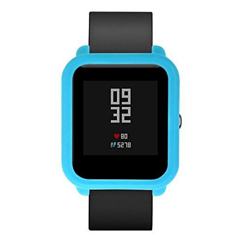buyeverything for huami Amazfit Bip Youth Watchケース、カラフルなソフトTUP保護ケースガードカバー耐衝撃スクリーンフレームプロテクターシェルfor Xiaomi huami Amazfit Bip Youth Watchアクセサリー
