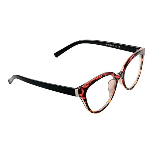 Womens Cat Eye Red Leopard Tortoise 52 mm Prescription - Prescription Glasses No Cheap
