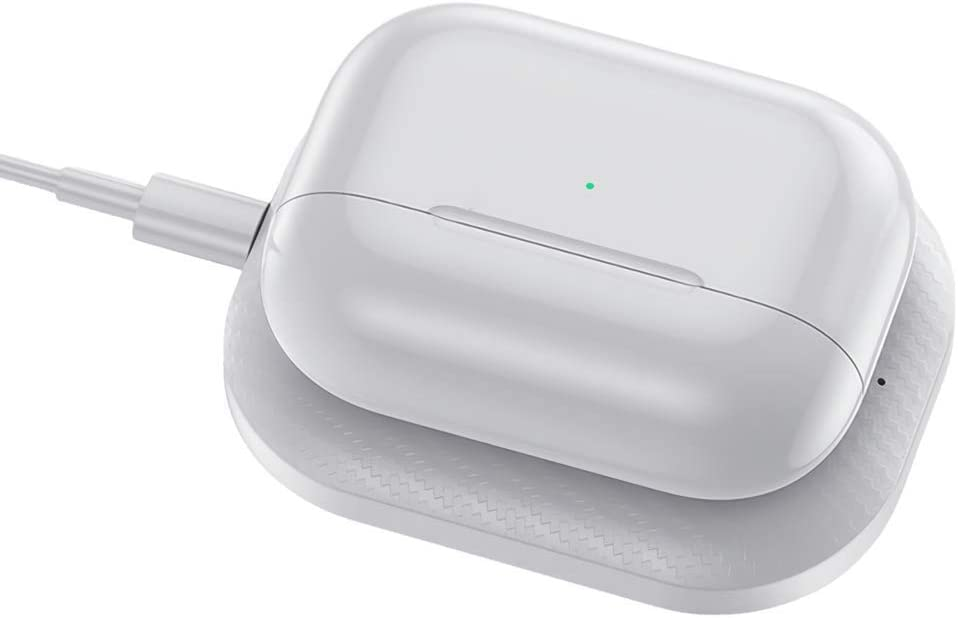Mr. Eleven Airpods Charger, Wireless Charging Pad Compatible with Apple Airpods and Airpods Pro (White)