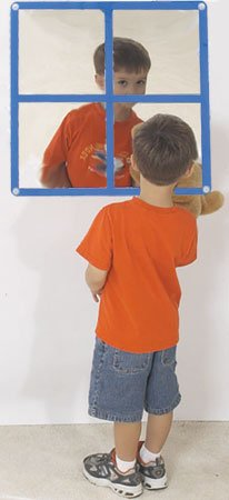 Children's Factory Square Windowpane Mirror by Children's Factory