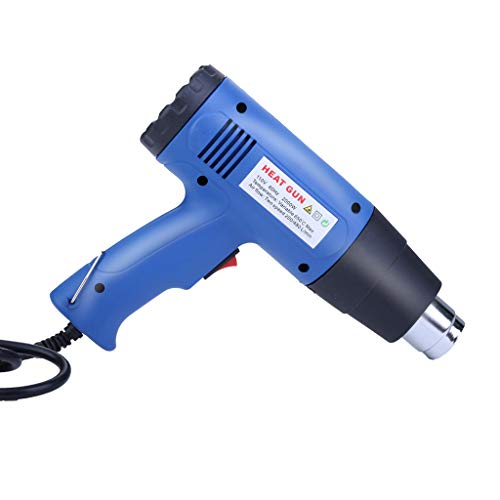 - Heat Gun Variable Temperature, Rigel7 1800W (375℃- 475℃) Hot Air Gun with 4 Stainless Steel Ball Point Heads, Overload Protection, for Shrink Wrapping, Crafts, Cell Phone Repairs,Blue