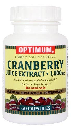 Comprimés Optimum, extrait de jus de canneberge, 1000 mg, 60 Count (Pack de 2)