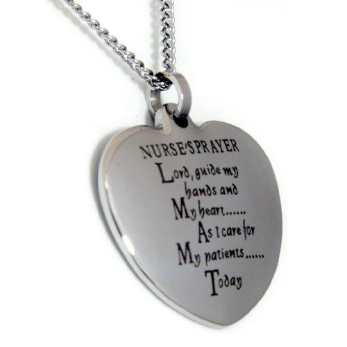 Nurses Prayer Heart Shaped Pendant Necklace - Nurse Jewelry - Religious Necklace - Nurse Necklace Gifts