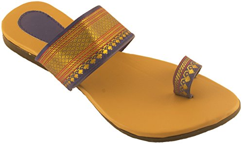 Womens party wearFlats Best suited with SareeBlue Beige