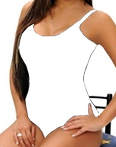 FARINA® 010 Body Colombiano Estampado Varios Colores - Body Con Faja BLANCO