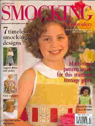 (Australian Smocking and Embroidery Issue No 59)