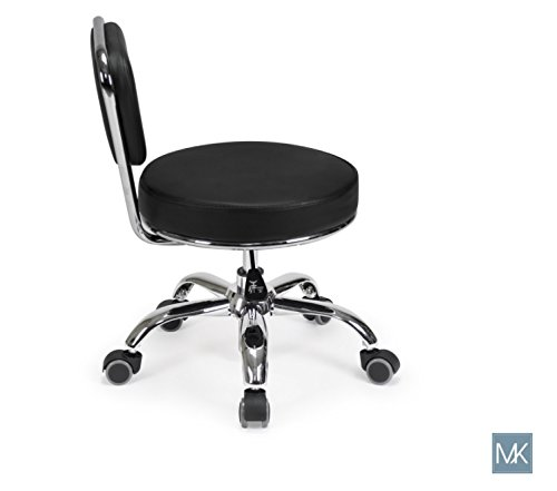 Salon Nail Pedicure Stool Pedicure Chair DAYTON BLACK Pneumatic, Adjustable, Rolling Salon Furniture & Equipment by MAYAKOBA (Image #3)