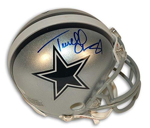 (Autographed Terrell Owens Dallas Cowboys Riddell Replica Mini Helmet - Certified Authentic Signature )