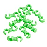 Stebcece 10pcs Buckle MTB Rotatable Brake Line C/S Derailleur Shift Cable Line Ring Clasp (green)