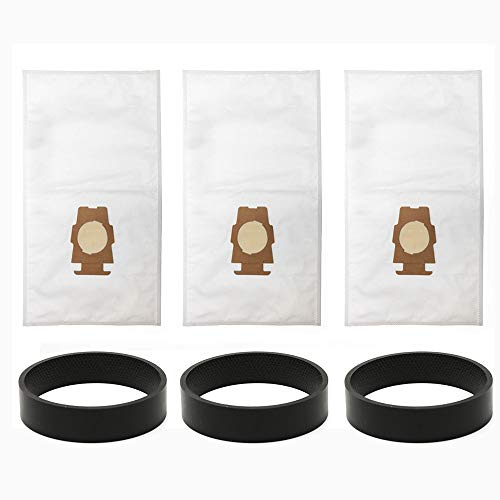 ANBOO for Kirby Part 204808 204811 Filtration Vacuum Bag for Kirby Style F Sentria Model Dust Bag Replacement Belt 3 Bags +3 Belts