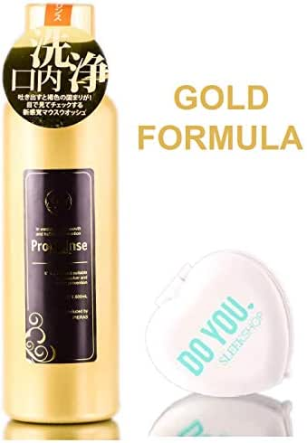Propolinse GOLD Re-Fresh Mouthwash Halitosis-Prevention for Smoker, Oral Hygiene) with Sleek Compact Mirror (20.23 OZ - GOLD FORMULA)