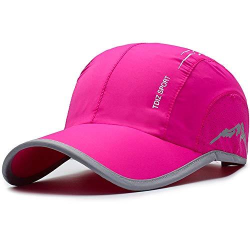 HANXIAODONG Adjustable Size Plain Hat Baseball Cap for Men Women 4 Colors (Color : Rose, Size : Free Size)
