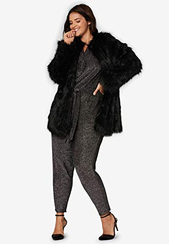 e05ab8b607e Ellos Women s Plus Size Faux Fur Snap Front Coat